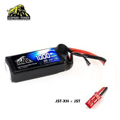 Picture of Leopard Power 2s 7.4v 1000mah 25c Lipo Battery with JST
