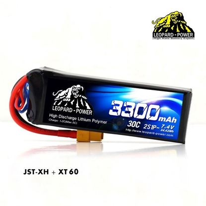 Picture of Leopard Power 2s 7.4v 3300mah 30c XT60 Lipo Battery