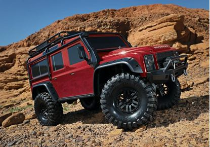 Picture of Traxxas 82056-4 - TRX-4 Scale & Trail Defender Crawler RTR RED