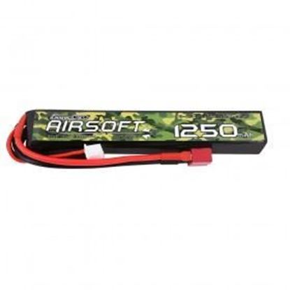 Picture of Gens Ace 3S 11.1V 1250mAh 25c Airsoft Gun Lipo Battery Deans Plug