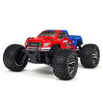 Picture of Arrma ARA102720T2 Granite 1/10 MT 4WD 3S BLX Brushless RTR, Red/Blue