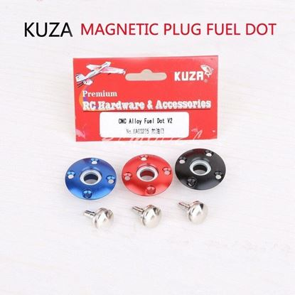 Picture of KUZA KAG0235R Large Scale CNC Alloy magnetic Fuel Dot  1pc (Red)