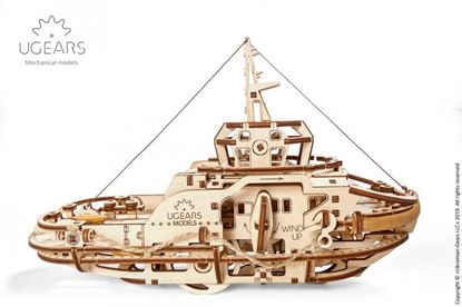 Picture of UGEARS 120983 Tugboat mechanical model kit