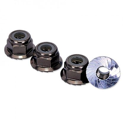 Picture of HLM4FGM M4 Locknut With Serrated Flange - Gun Metal
