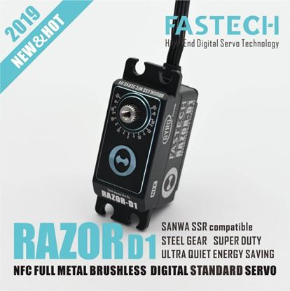 Picture of Fastech Brushless HV NFC Built in Gyro Servo ( 16kg ) 0.07S RAZOR-D1