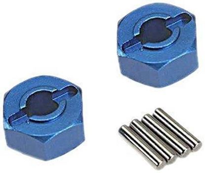 Picture of Traxxas 1654X Wheel hubs, hex (2) Blue-Anodized, Lightweight Aluminum