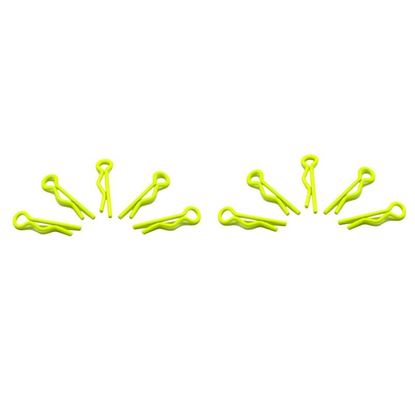 Picture of Arrowmax AM-103102 Small Body Clip 1/10 -Fluorescent Yellow (10)