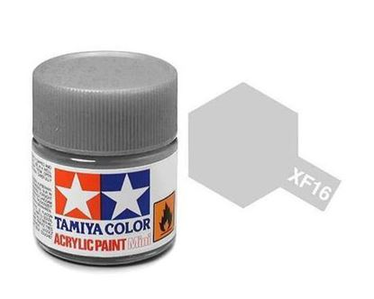 Picture of Tamiya  XF-16 81716 Acrylic 10ML Flat Aluminium