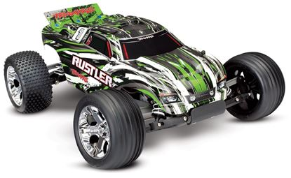 Picture of Traxxas 37054-1 1/10 Rustler RTR w/XL-5 ESC w/iD Connector- Green
