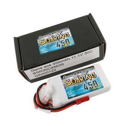 Picture of Gens Ace 3S 11.1V 450mah 30C Soaring Series with JST plug