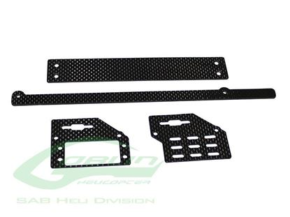 Picture of SAB H0690-S CARBON FIBER SUPPORT SET - GOBLIN BLACK NITRO