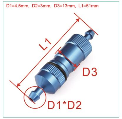 Picture of FP8039-B Long Fuel Filter for Gas Airplane (Blue)