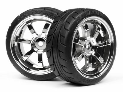 Picture of HPI Racing HP 4738 1/10 On-Road Tires & Wheels: Rays/T-Grip