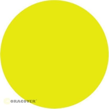Picture of Oracover  21-031-002 iron-on film - width: 60 cm - length: 2 m Fluorescent Yellow