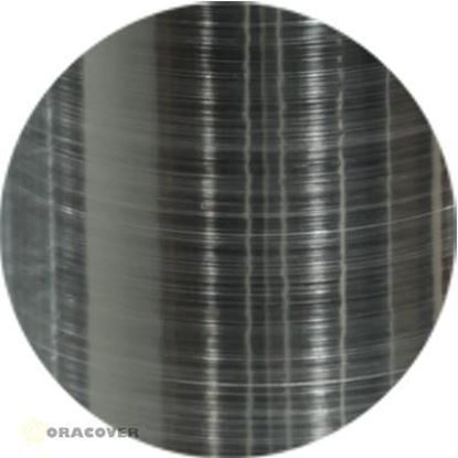Picture of Oracover  21-105-002 iron-on film - width: 60 cm - length: 2 m Aluminium Brushed