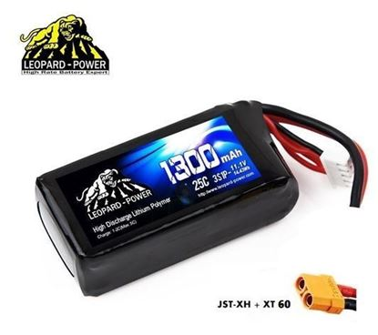Picture of Leopard Power 3s 11.1v 1300mah 25c Lipo Battery with XT60