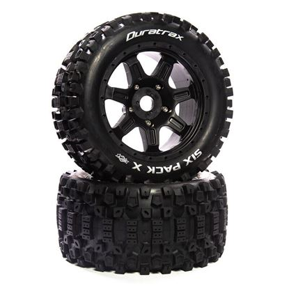 Picture of Duratrax DTXC5587 Six Pack X Belted Mounted Black 24mm Kraton 8S (2) 8S ARRMA