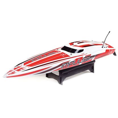 """Picture of Proboat PRB08037T2 Impulse 32"""" Brushless Deep-V RTR with Smart, White/Red"""