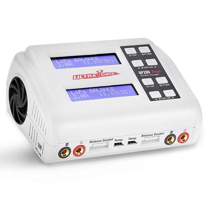 Picture of Ultra Power UP200 Duo 200W Dual Port Multi-Chemistry Ac/Dc Charger