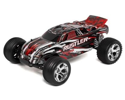Picture of Traxxas 37054-1RX 1/10 Rustler RTR w/XL-5 ESC w/iD Connector- RED