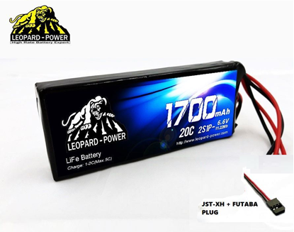 Picture of Leopard Power 2S 6.6v 1700mah 20c Life Battery with Futaba Plug
