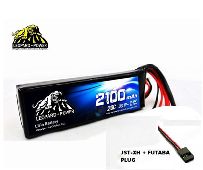 Picture of Leopard Power 3S 9.9v 2100mah 20c Life Battery with Futaba